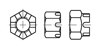 Гайка    DIN 935