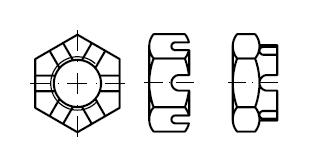 Гайка    DIN 937