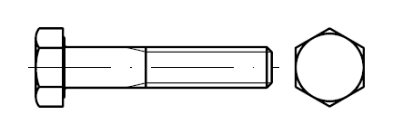 Болт    DIN 960