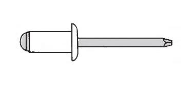 Заклёпка вытяжная стандартный буртик