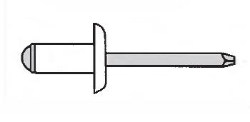 Заклёпка вытяжная широкий буртик