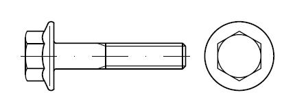 Болт с фланцем M10    DIN 6921