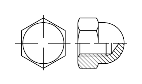 Гайка колпачковая    DIN 1587