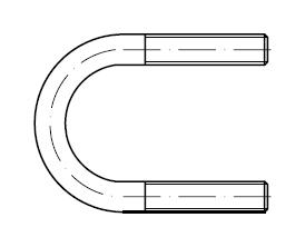 Болт-скоба U-образная    DIN 3570