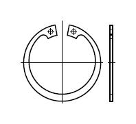 Кольцо DIN 472