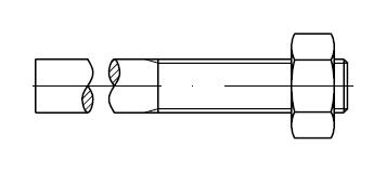 Шпилька DIN 525