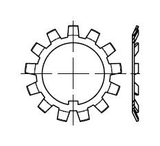 Шайба стопорная    DIN 5406