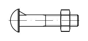 Болт мебельный    DIN 607