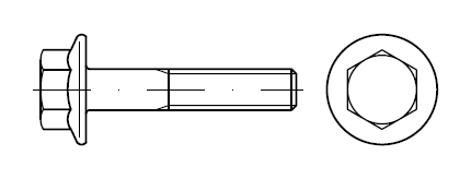 Болт шестигранный    DIN 6921