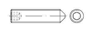 Винт установочный    DIN 914