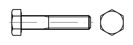Болт с шестигранной головкой    DIN 931