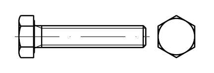 Болт оцинкованный M12    DIN 933