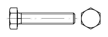 Болт с уменьшенной головкой    DIN 961