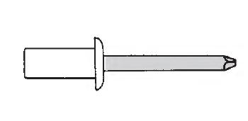Заклёпка герметичная стандартный буртик (глухая)