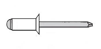 Заклёпка вытяжная потайной буртик