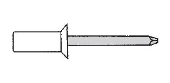 Заклёпка герметичная потайной буртик (глухая)